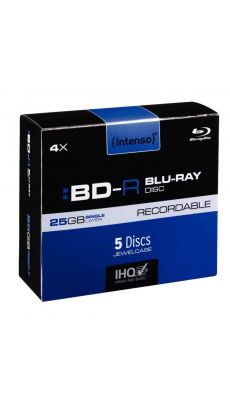 Paquet de 5 BD-R Blue-Ray Recordable 25 Go