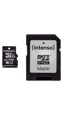 Intenso - 22304 - Carte mémoire Micro SD UHS I Professionnel - 16 GO