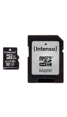 Intenso - 22335 - Carte mémoire Micro SD UHS I Professionnel - 32 GO