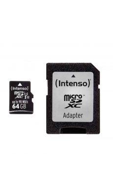Intenso - 22366 - Carte mémoire Micro SD UHS I Professionnel - 64 GO