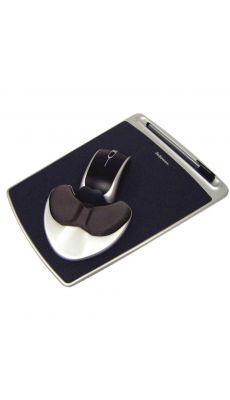 Fellowes - 9373003 - Tapis de souris avec repose poignet Easy glide - Noir