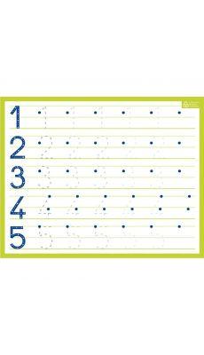 Bouchut grandremy - 010381 - Ardoise effaçable à sec chiffres 21x26.5 cm