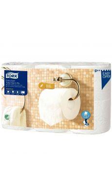 TORK - 110318 - Papier toilette rouleau traditionnel extra doux Premium - 3 plis - Lot de 6