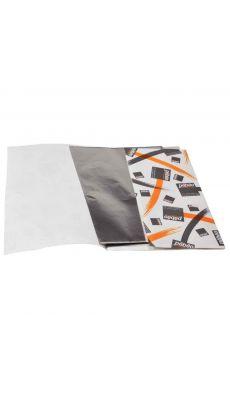 PEBEO - 040000 - Feuilles de métal à repousser en aluminium, format 22x16 cm - Pochette de 10