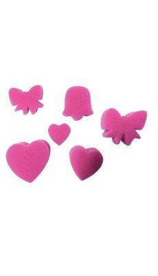 Eponges Cœurs et Papillons - Lot de 6