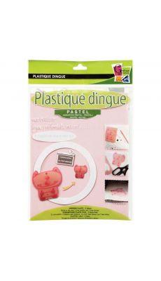 Plastique fou, coloris pastel - Pochette de 5 feuilles