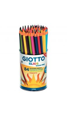 OMYACOLOR - 516000 - Crayons de couleur ELIOS triangulaires assortis - Pot de 84