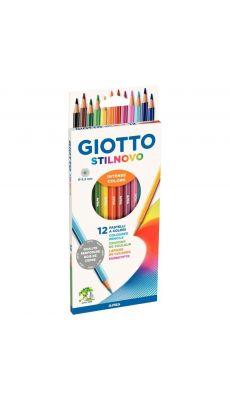 STILNOVO - Etui de 12 crayons de couleur Stilnovo assortis