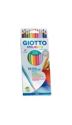 STILNOVO - Etui de 12 crayons de couleur Stilnovo aquarellables assortis