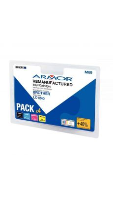 ARMOR - B10351R1 - Cartouche compatible Brother LC1240 - Pack de 4