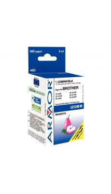 ARMOR - K20335 - Cartouche compatible Brother LC1240 Magenta