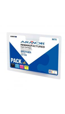 ARMOR - B10344R1 - Cartouche compatible Brother LC123 - Pack de 4
