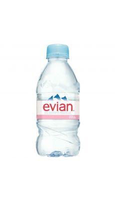Bouteilles eau 33cl evian - Pack de 24