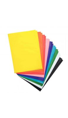 Feuilles de papier de soie vert, 50x70 cm - Paquet de 26