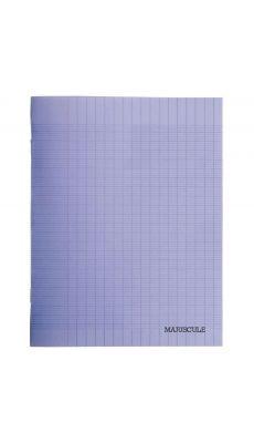 Cahier piqure 48 pages - 24x32cm - séyès 90g - Couverture polypropylène violet