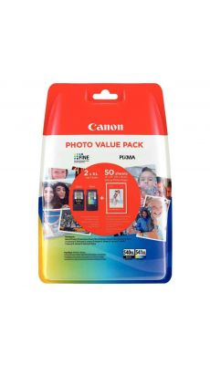 Canon - 5222B013AA - Cartouche couleur + 50 feuilles papier photo 10x15 cm