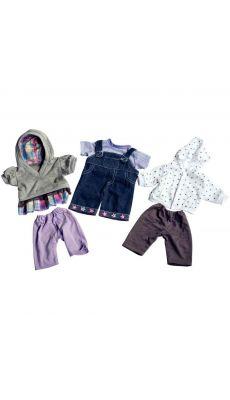 Vêtements mixtes pour poupées - Lot de 3