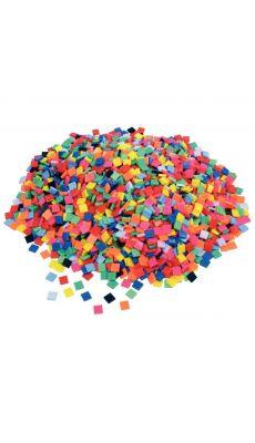 Mosaïques en plastique, format : 1 x 1 cm - Sachet de 1 kilo