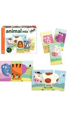 Puzzles 3 pièces Mix Animo, en carton - Lot de 8