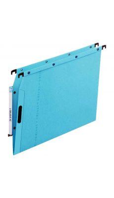 L'OBLIQUE - 100330524 - Dossier suspendu pour armoire - Dos 5 mm - Bleu - Paquet de 25