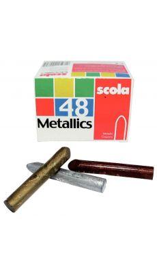 OZ INTERNATIONAL - XVP-163M - Crayon cire metal assorti - boite de 48