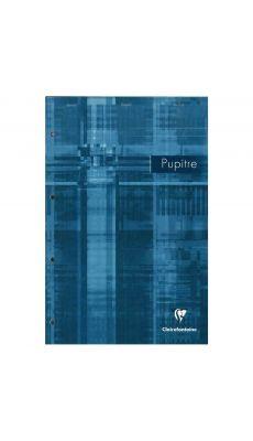 Clairefontaine - 66135 - Bloc pupitre travers avec marge perforée 4 trous - 160 pages 210 x 315 mm