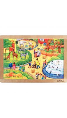 Puzzle à cadre en bois de 24 pièces, le Zoo