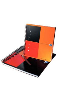 OXFORD OFFICE - 001201 - Cahier notebook reliure intégrale 001 230x297 petit carreaux perforee