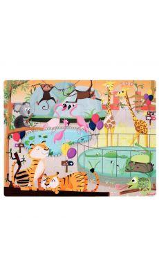 Maxi puzzle tactile 20 pièces, LE ZOO