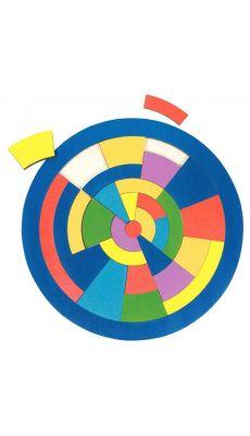 Puzzle cercle les couleurs en bois