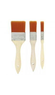 Pinceaux large en nylon.  3 tailles : 50mm, 25mm, et 12mm