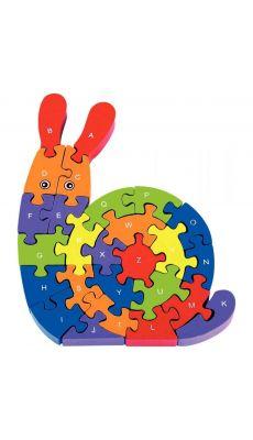 Puzzle escargot 3D alphabet