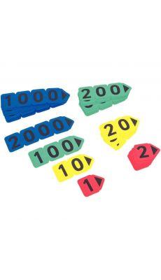 Cartes nombres en plastique - Sachet de 40