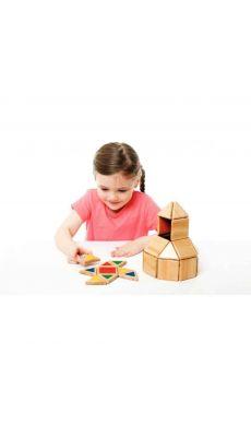 Set de 32 pièces POLYDRON en bois magnétique
