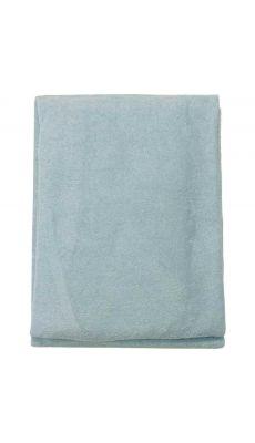 Drap plat 55x130cm bleu pour couchette