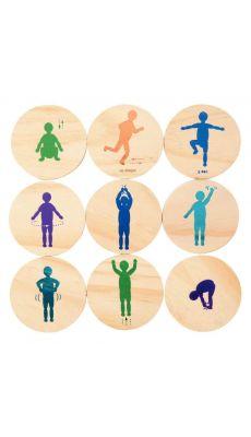 Set de 18 plaques mouvements de coordination