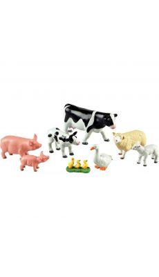 Jumbo animaux de la ferme, mamans et bébés - Boite de 8