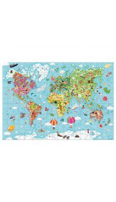 Puzzle géant 300 pièces, Carte du monde