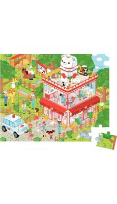 Puzzle 36 pièces, la clinique vétérinaire