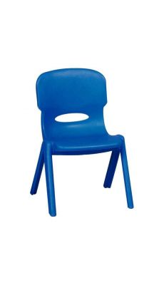 Chaise en polypropylène 24cm Bleue