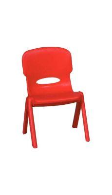 Chaise en polypropylène 26 cm rouge - Taille 1