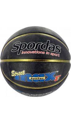 Ballon de basket taille 5 noir extérieur