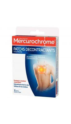 MERCUROCHROME - 510106 - Patch décontractant chauffant diffuse 8h de chaleur - Boite de 2