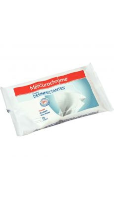 MERCUROCHROME - 504716 - Lingettes désinfectantes Mercurochrome® - Paquet de 12