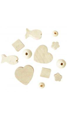 Perles en bois brut - Sachet de 300