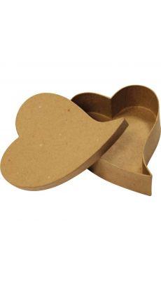 Cœurs fantaisie en carton épais - Lot de 10 boites