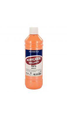 Peinture acrylique brillante, couleur pep's Abricot - Flacon de 500ml