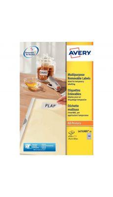 Avery - L4731REV-25 - Etiquettes enlevables 25.4x10mm - Paquet de 4725