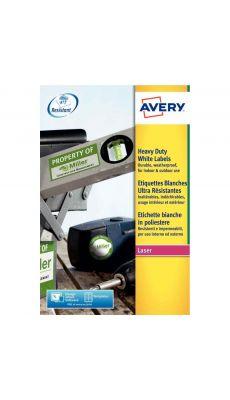 Avery - L7060-20 - Etiquettes laser blanches inaltérables 63.5x38,1mm - Paquet de 420