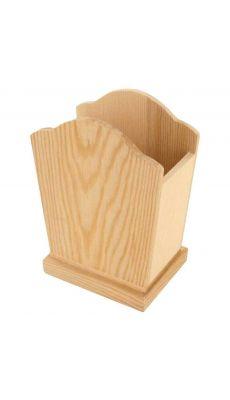 Pot à crayons en bois - Lot de 5